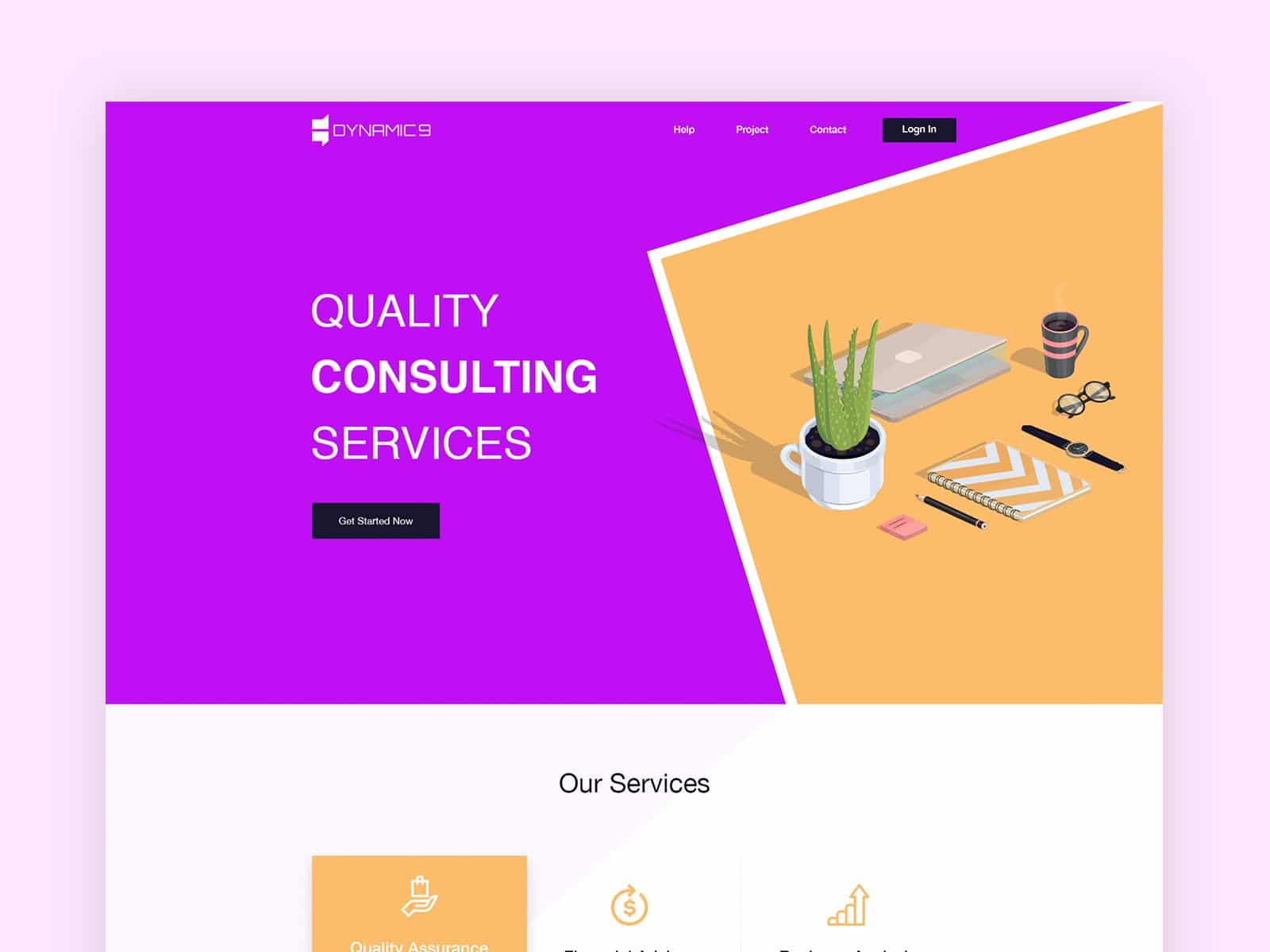 Consultation Landing page