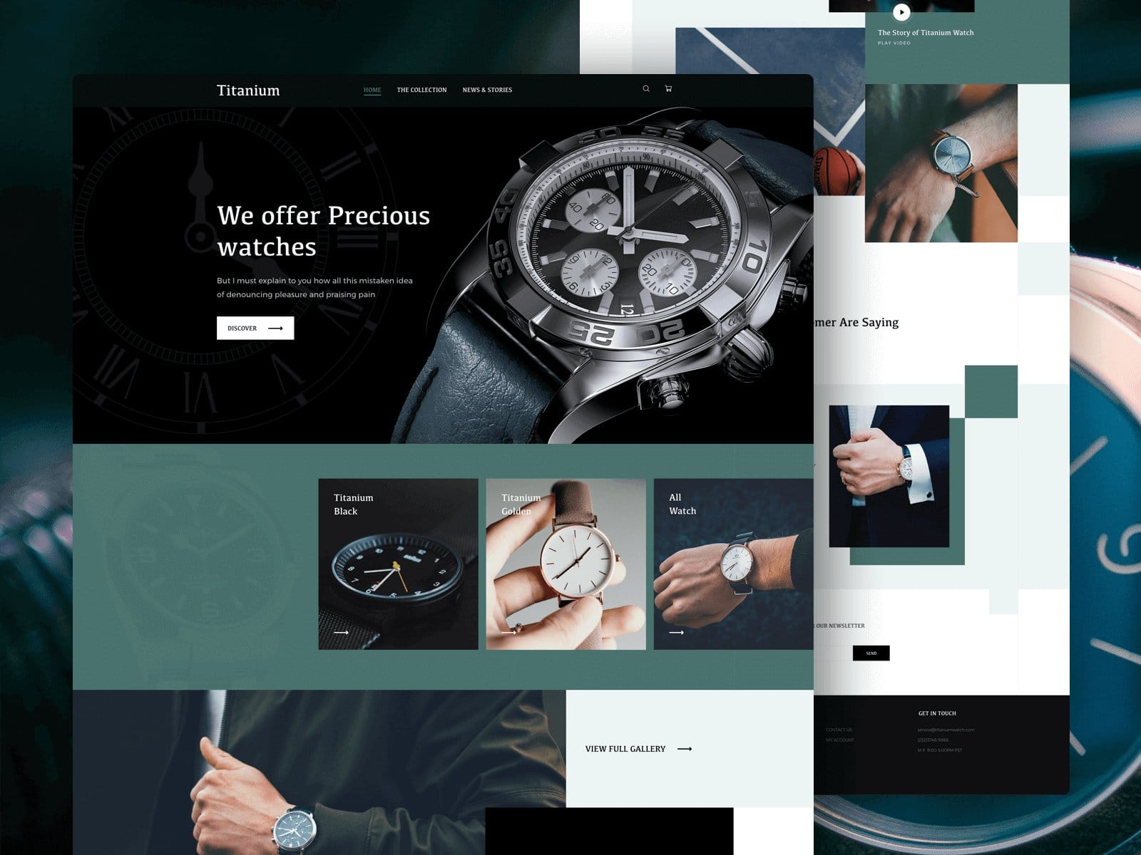 E-commerce Single Watch Landing Page